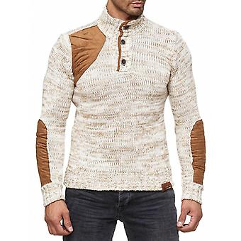 Tazzio fashion men's sweater Ecru