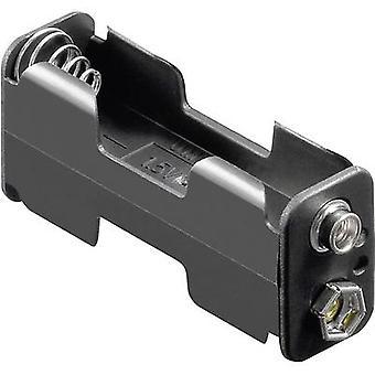 Battery tray 2x AA Stud and socket (L x W x H) 60 x 26 x 16.5 mm Goobay 12461