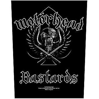 Motorhead Bastards Jumbo formaat naai-op doek Backpatch