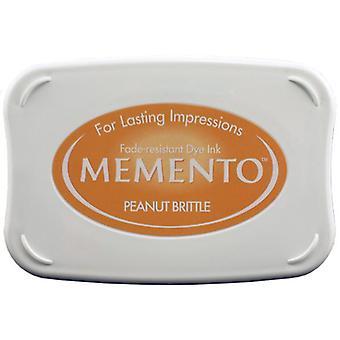 Memento Dye Ink Pad-Peanut Brittle