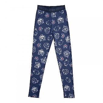 Kenzo juniorer Tiger inför utskrift Leggings (Navy)