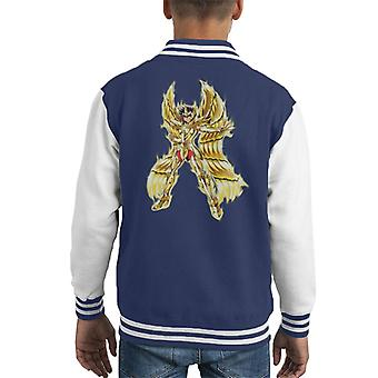 Saint Seiya Moth Cloth Sagittarius Kid's Varsity Jacket