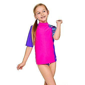 Zoggs Girls Short Sleeve UPF 50+ Sun Top Pink