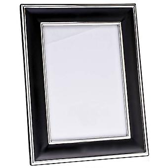 Orton West Silver Plated Photo Frame 4x6 - Black/Silver