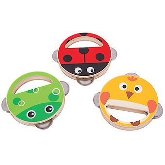 Bigjigs Toys Wooden Hand Shakers (Pack of 2) - Musical Toys