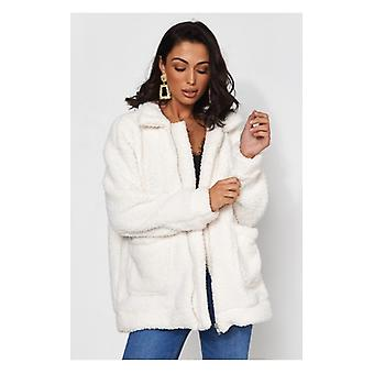 The Fashion Bible Limited Edition White Teddy Jacket