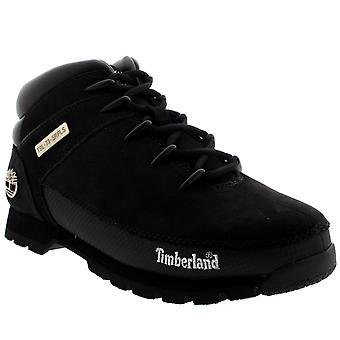 Mens Timberland Euro Sprint Leather Dark Brown Winter Hiking Ankle Boots