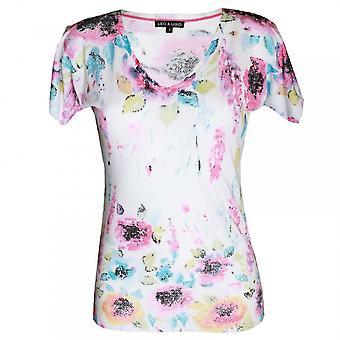 Leo Guy Women's Short Sleeve V-neck T-shirt