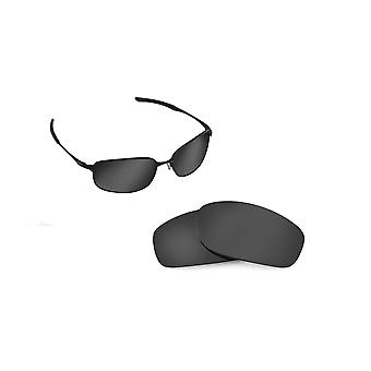 TAPER Replacement Lenses Polarized Black Iridium by SEEK fits OAKLEY Sunglasses