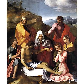 Pieta with Saints, Andrea del Sarto, 60x50cm