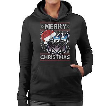 A Decepticon Merry Christmas Transformers Women's Hooded Sweatshirt