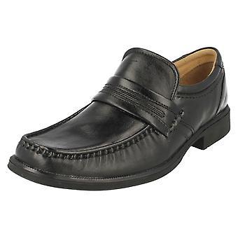 メンズ クラークス スリップオン靴ホイスト作業ブラック サイズ 7 G イギリス