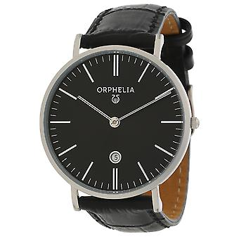 ORPHELIA Mens Analogue Watch Simplicity Black Leather OR61507