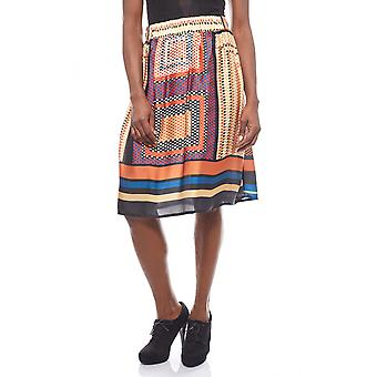 B.C.. best connections extravagant MIDI colorful print skirt