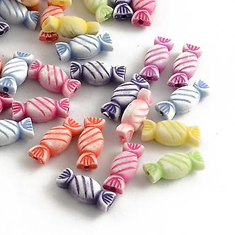 Packet 60+ Mixed Acrylic 7 x 15mm Candy Beads HA25425