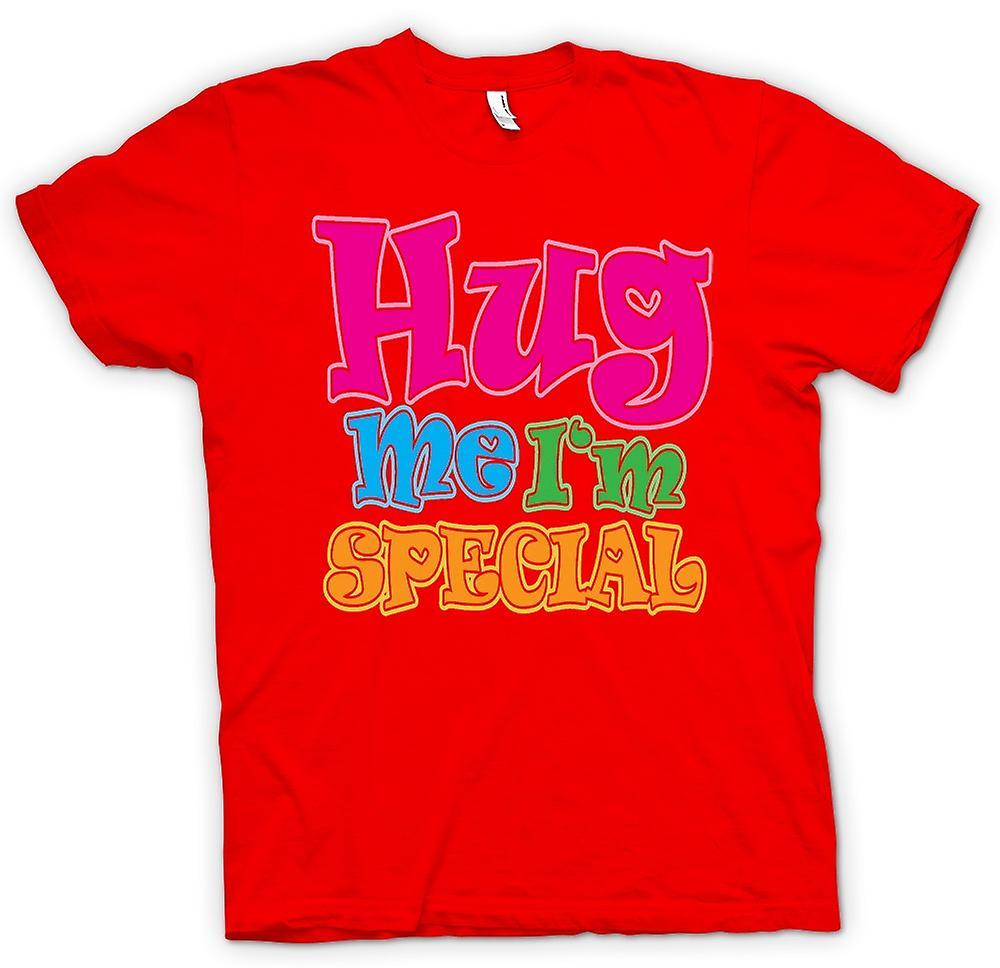 Herr T-shirt - krama mig jag är speciell - rolig
