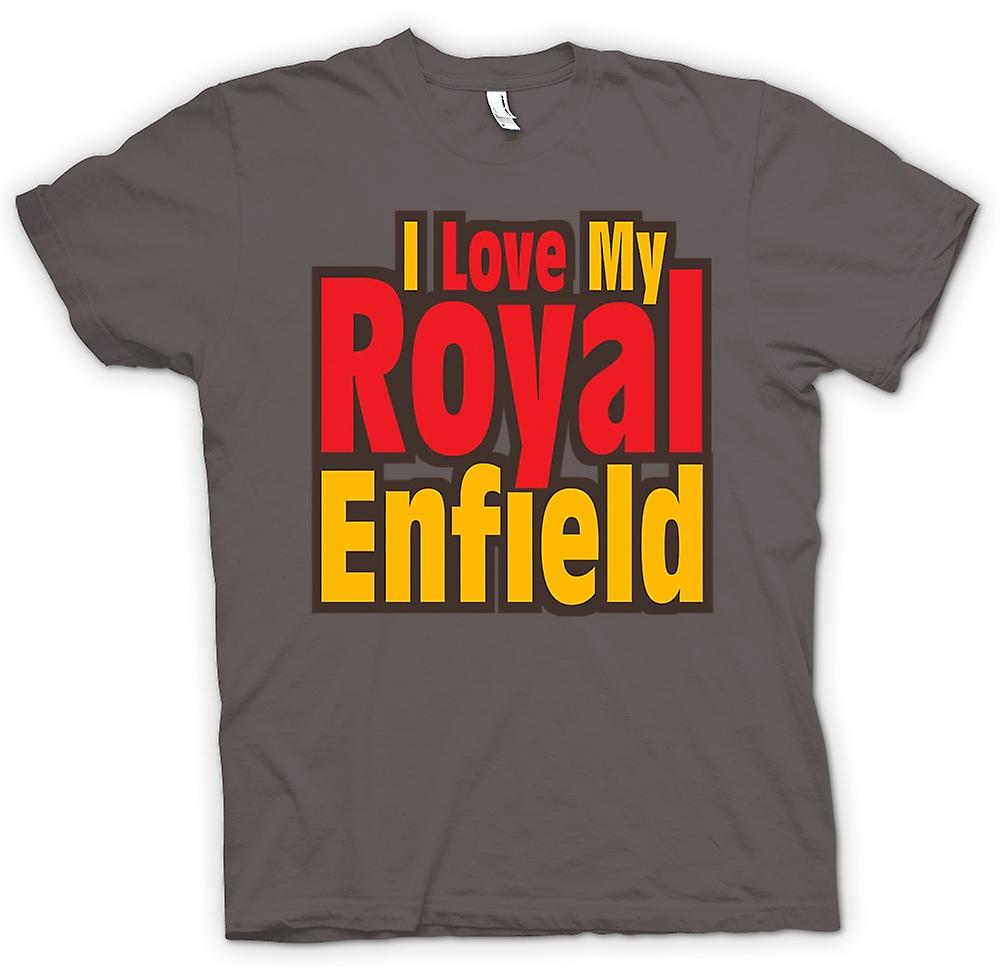 Womens T-shirt - I Love My Royal Enfield - Motorcycle - Biker