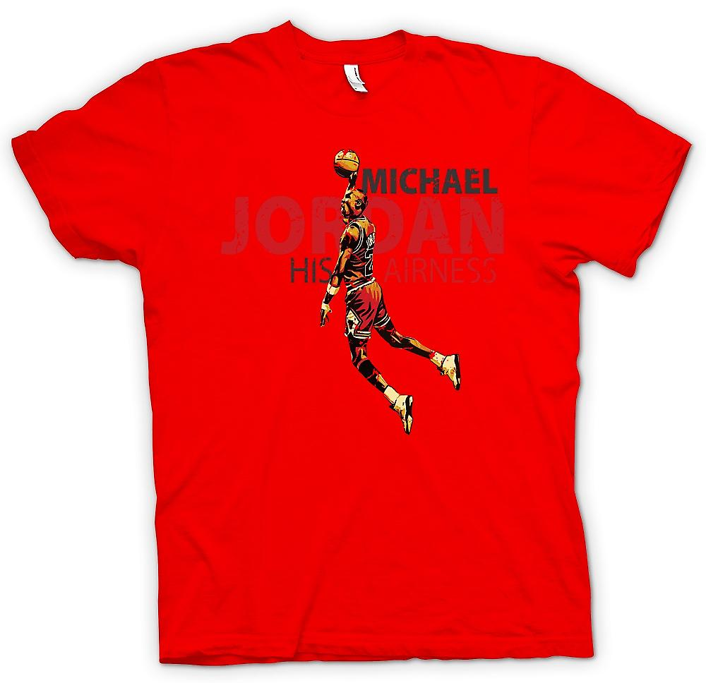 Heren T-shirt - Michael Jordon - zijn Airness