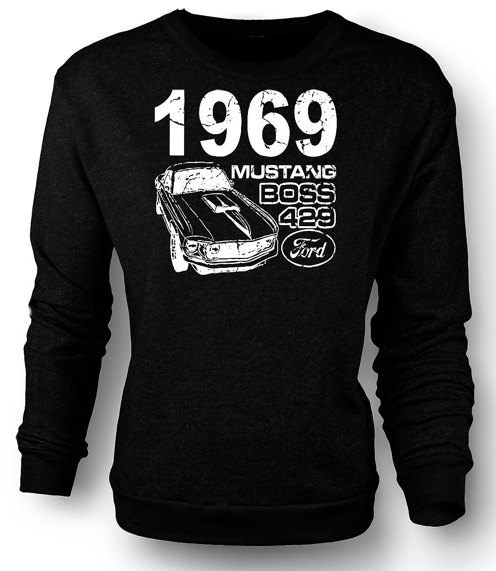 Mens Sweatshirt 1969 Mustang Boss 429 - Classic U.S. Car