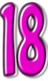 Numero 18 - cartone Lifesize ritaglio / Standee