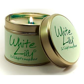 Lily Flame Scented Candle in a presentation Tin - White Lily