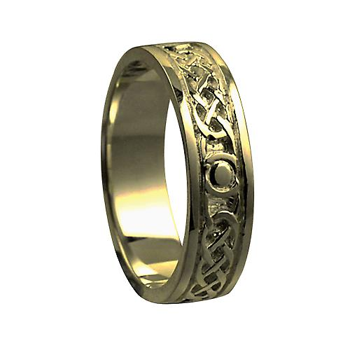 9ct Gold 6mm Celtic Wedding Ring Size X