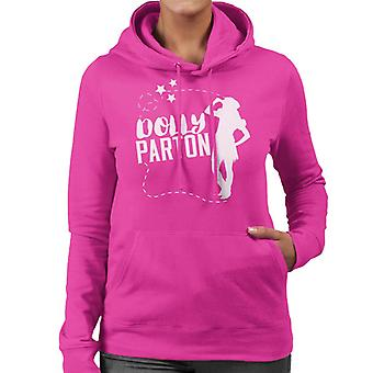 Dolly Parton Cowgirl Silhouette Damen Sweatshirt mit Kapuze