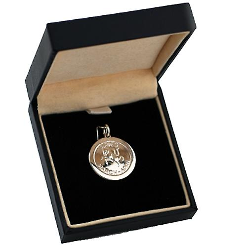 Silver 22mm round Zodiac disc Aries