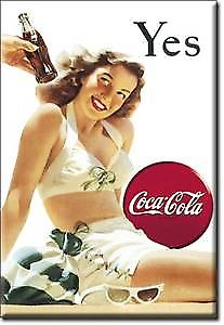 Coca Cola Yes (White Swimsuit) fridge magnet  (de)