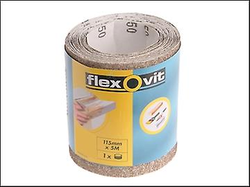 Flexovit General Purpose Sanding Roll 115mm x 5m Extra Coarse 50g