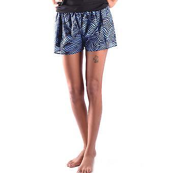 Pantalones cortos de seda Kenzo azul