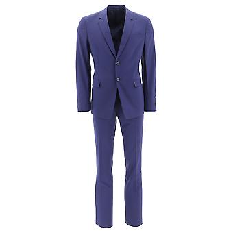 Prada Blue Wool Suit