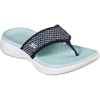 Skechers Womens On-The-Go 600 Flip Flop Footbed Sandals