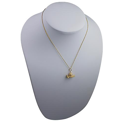 9ct Gold 15x19mm hollow St. Paul's Cathedral Pendant with a cable Chain 16 inches Only Suitable for Children