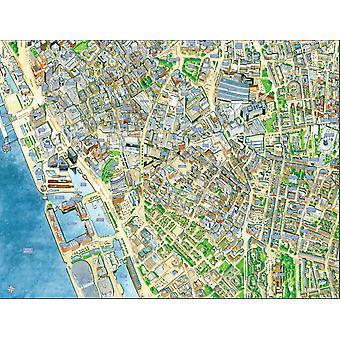 Городские улицы карта Ливерпуль 400 кусок головоломки 470 x 320 мм (hpy)