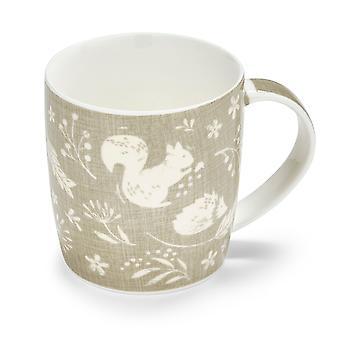 Cooksmart Woodland Grey Barrel Mug