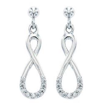 Ah! Tordu de bijoux boucles d'oreilles avec des cristaux Swarovski en argent Sterling