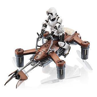 Remote-guided drone propel Star Wars speed bike 35 mph 2.4 GHz Brown