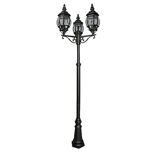 Searchlight 7173-3 Bel Aire 3 Light Black Outdoor Post IP44 Rated