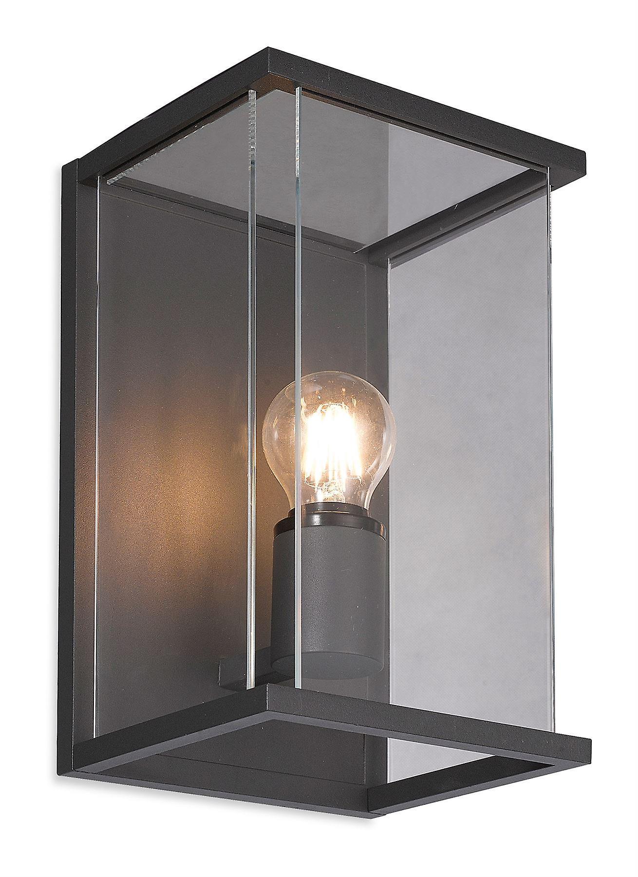Firstlight - 1 Light Outdoor Wall Light Graphite, Clear Glass IP54 - 5945GP