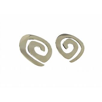 Cavendish French Sterling Silver Flat Maze Earrings