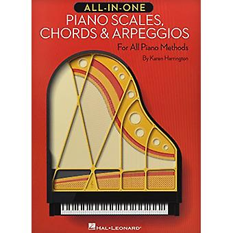 All-In-One Piano Scales - Chords & Arpeggios by Karen Harrington