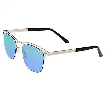 Breed Archer Polarized Sunglasses - Silver/Blue-Green