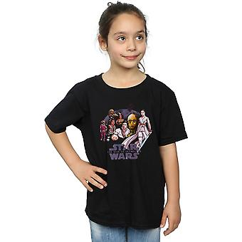 Star Wars The Rise Of Skywalker Resistance Rendered Group Girls T-Shirt