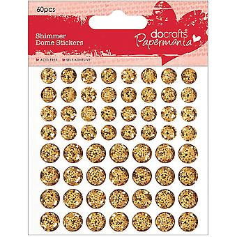 Papermania Shimmer dôme Bling autocollants 60/Pkg-Gold PM805904