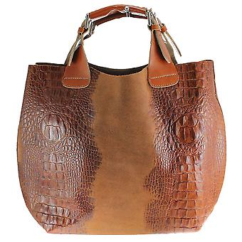 CTM large bag leather animal print bag