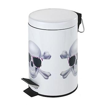Wenko pedal bin skull  3 l  (Home , Bathroom , Bathroom accessoires)