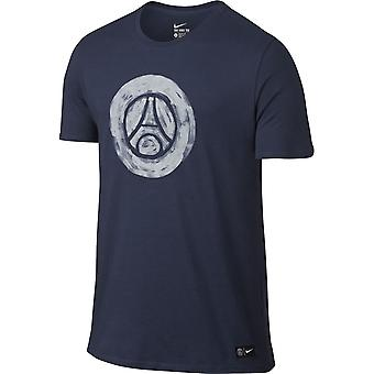 2016-2017 PSG Nike Core Crest T-Shirt (Navy) - Kinder