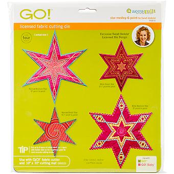 GO! Fabric Cutting Dies-Star Medley 6 Point By Sarah Vedeler 55313