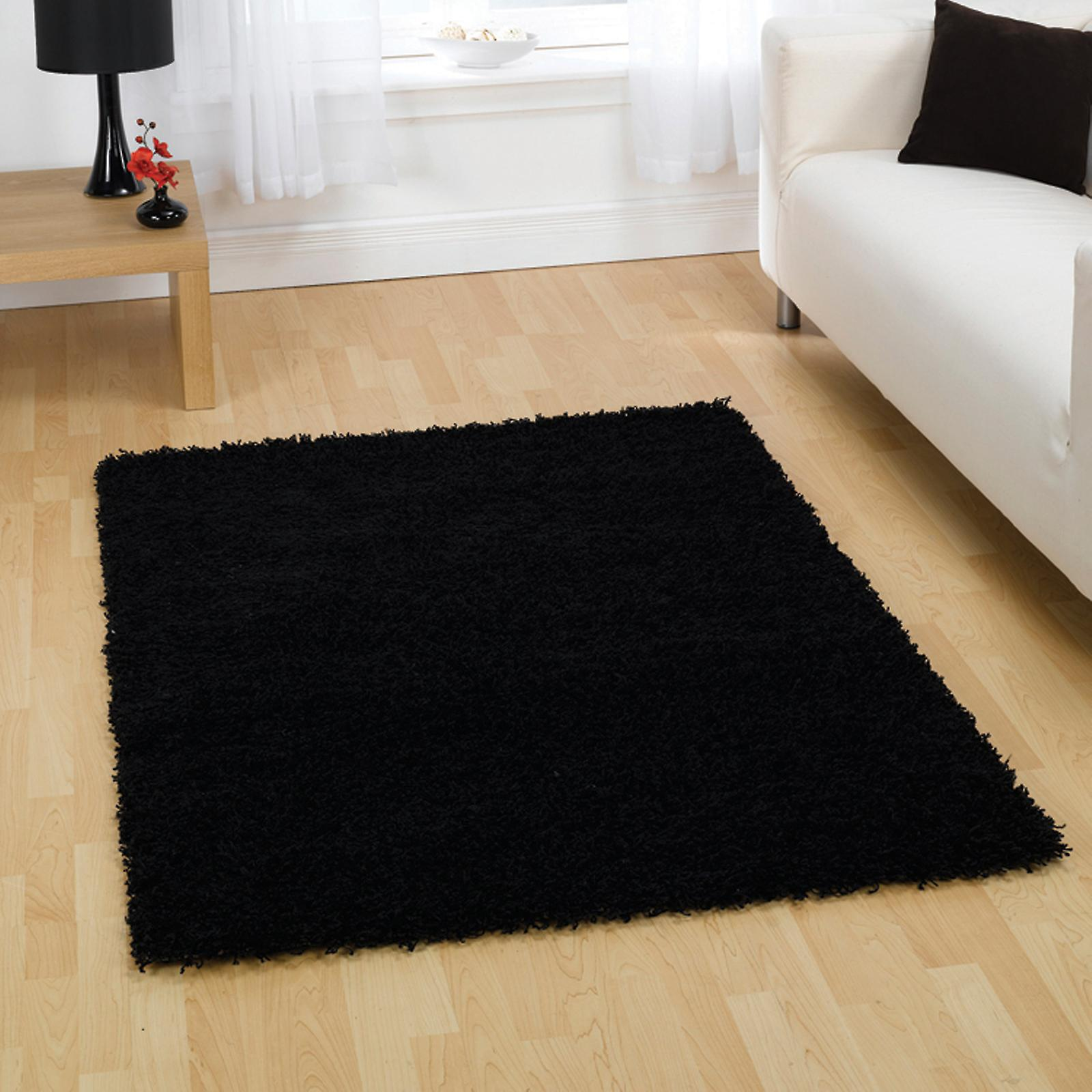 Cariboo Shaggy Rugs In Black
